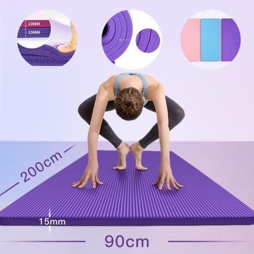 200Cm*90Cm Yoga Mats 15Mm Extra Thickness Non-Slip Esterilla Pilates