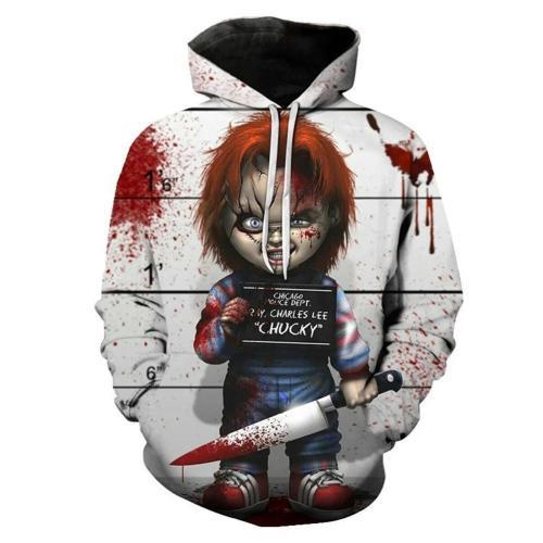 Child'S Play Movie Unisex 3D Printed Hoodie Pullover Sweatshirt
