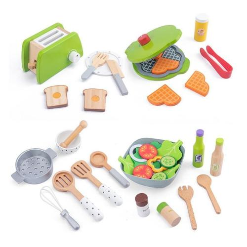 Diy Wooden Kitchen Toy Pretend Play Simulation Model Set Cutting Fruit Vegetable Educational Toys Gift For Children Kids Girls