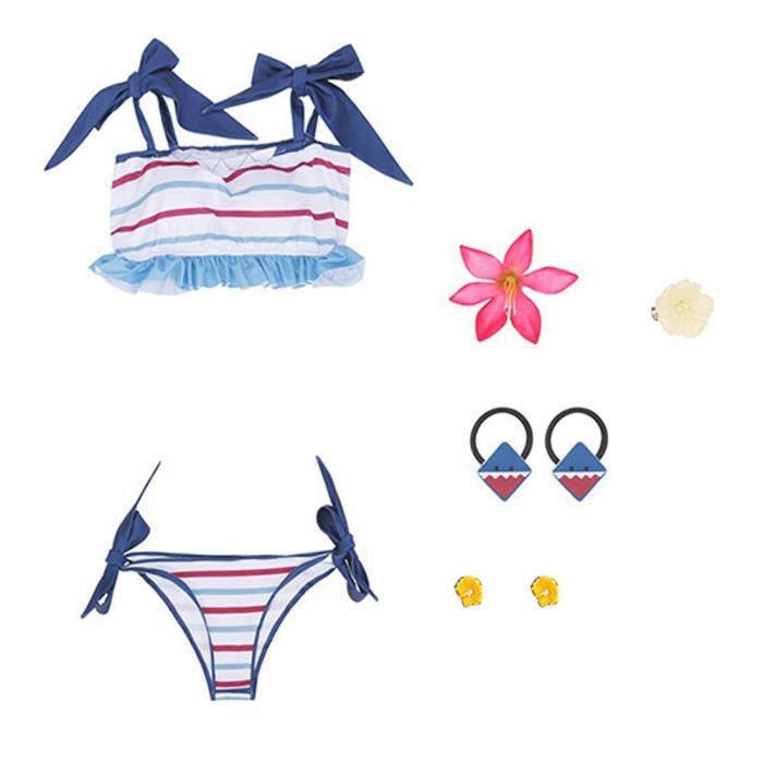 Hololive Gawr Gura Bikini Shark Swimwear Halloween Carnival Suit Cosplay Costume