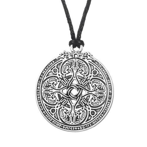 Viking Dragon Shield Necklace