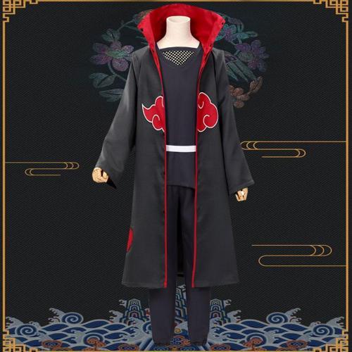Itachi Uchiha From Naruto Halloween Cosplay Costume - Black Edition