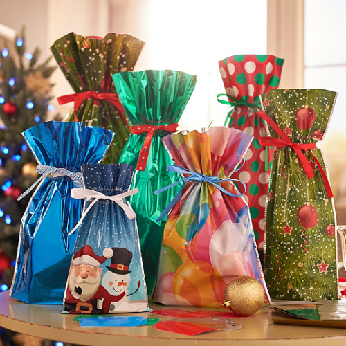 Drawstring Christmas Gift Bags(15 Sets)
