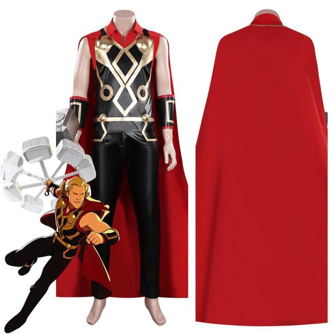 What If Thor Outfit Halloween Carnival Suit Cosplay Costume