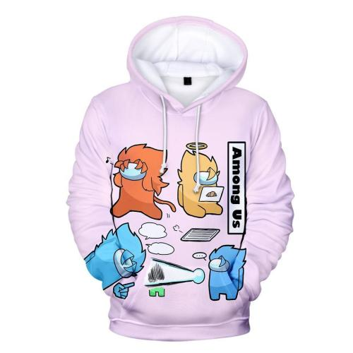 Adult Style-16 Impostor Crewmate Among Us Cartoon Game Unisex 3D Printed Hoodie Pullover Sweatshirt
