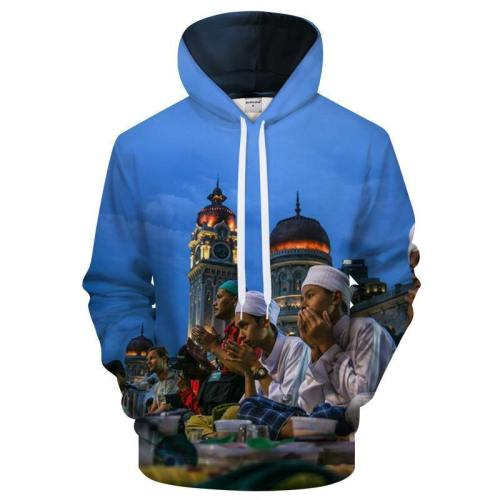 Ramadan Sunset Prayer 3D Sweatshirt Hoodie Pullover