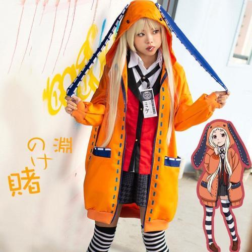 Kakegurui Compulsive Gambler Runa Yomozuki Halloween Cosplay Costume