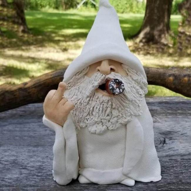 Garden Gnomes 3D Figurines Dwarf Santa Claus Resin Crafts Decorations