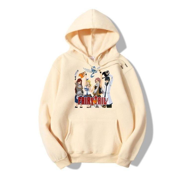 Fairy Tail Team Unisex Hoodie Anime Funny Hip Hop 90S Hipster Grunge Graphic Casual Plus Size Leisure Top