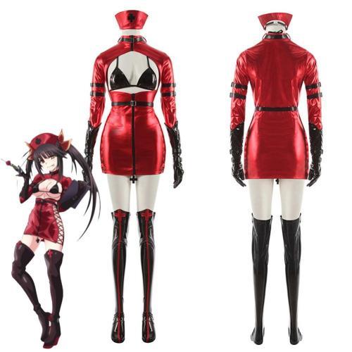 Anime Date A Bullet Tokisaki Kurumi Women Girls Nurse Uniform Outfits Halloween Carnival Costume Cosplay Costume