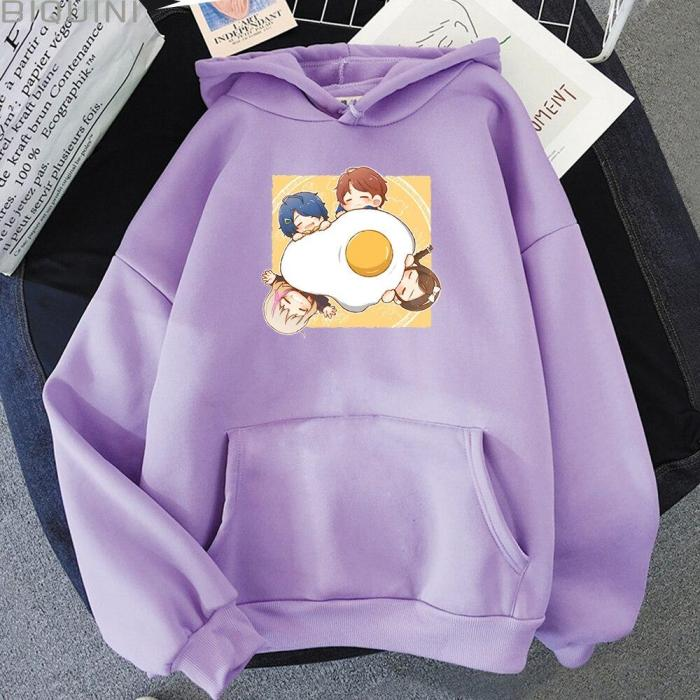 Anime  Wonder Egg Priority Printed Kawaii Aesthetic Korean Hoodie Cute Oversize Sweatshirt