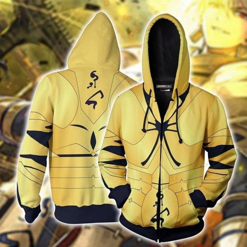 Fate Stay Night Game Matou Shinji Cosplay Unisex 3D Printed Hoodie Sweatshirt Jacket With Zipper