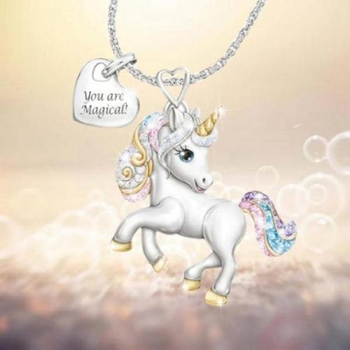 Unicorn Necklace & Earrings