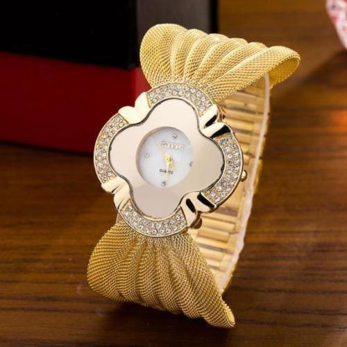 Elegant Butterfly Gold Watch