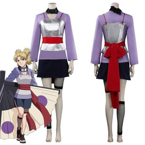 Naruto Nara Temari Outfits Halloween Carnival Suit Cosplay Costume