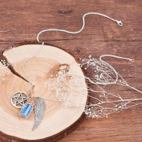 Duality  Silver Necklace