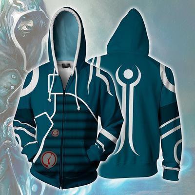 Magic The Gathering Game Dark Green Jess Belen Cosplay Unisex 3D Printed Hoodie Sweatshirt Jacket With Zipper