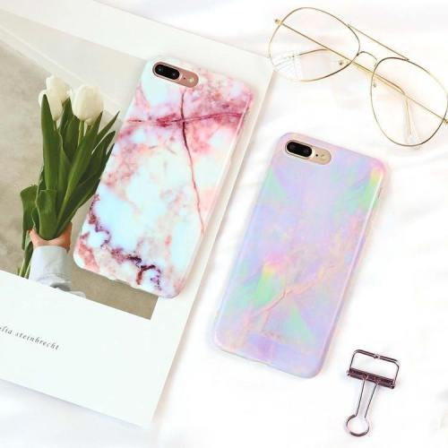 Pastel Marbled Phone Cases