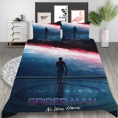 Spider-Man No Way Home Cosplay Bedding Set Duvet Cover Pillowcases Halloween Home Decor