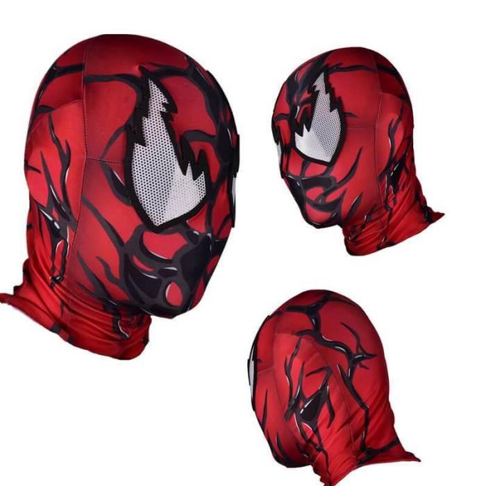 Red Venom Carnage Symbiote Cosplay Costume Zentai Bodysuit Jumpsuit