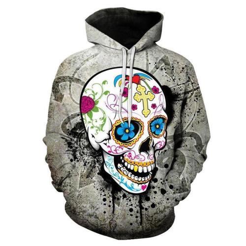 Fiesta Skull 3D Sweatshirt Hoodie Pullover