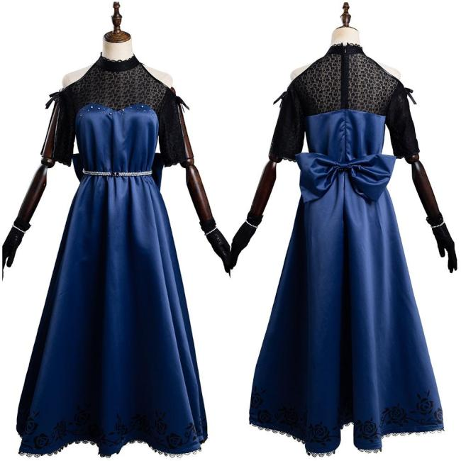 Pretty Derby Rice Shower Party Dress Outfits Halloween Carnival Suit Cosplay Costume
