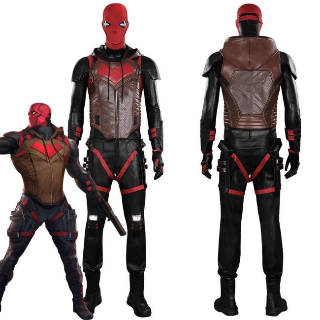 Gotham Knights Red Hood Jason Todd Outfits Halloween Carnival Suit Cosplay Costume