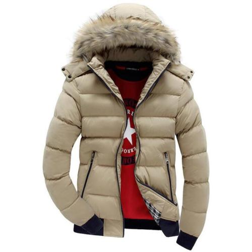 Winter Jacket For Men  With Hood Thick Warm Men'S Parka