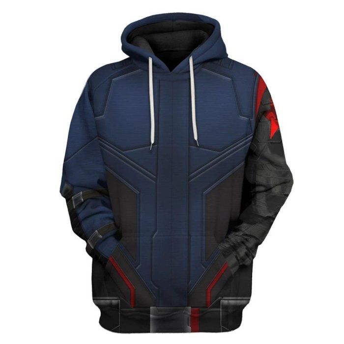 Avengers Movie Bucky Barnes Winter Soldier White Wolf Cosplay Unisex 3D Printed Hoodie Sweatshirt Pullover