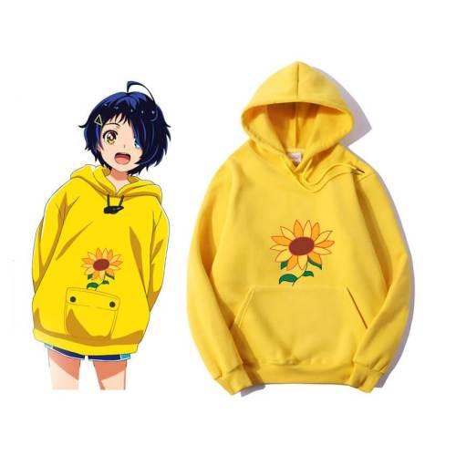 Wonder Egg Priority Ai Kawaii Hoodie Sunflower Cosplay Costumes