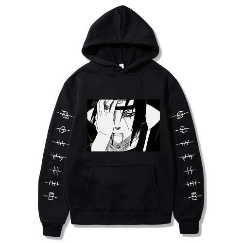 Naruto Hoodies Streetwear Itachi Pullover Sweatshirt Hip Hop Hoodie
