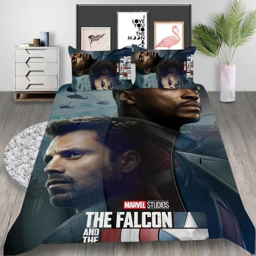 The Falcon And The Winter Soldier Cosplay Bedding Set Duvet Cover Pillowcases Halloween Home Decor