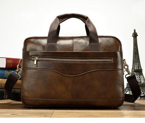 Leather Briefcase Laptop Handbag Messenger Business Bag
