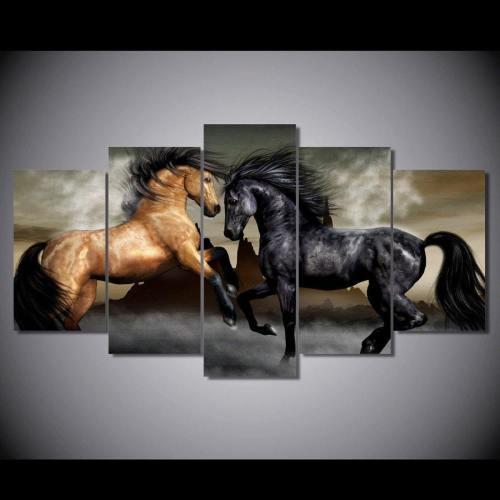 Hd Printed Horses Canvas