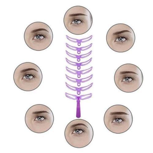 Eyebrow Stencils Kit Grooming Card Eyebrow Makeup Tools