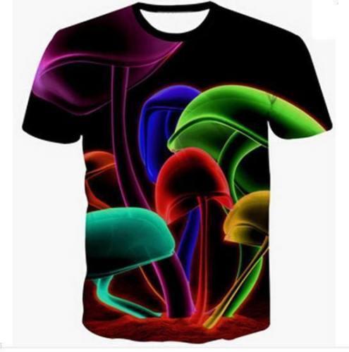 Hipster Infected Mushroom 3D T-Shirt V10