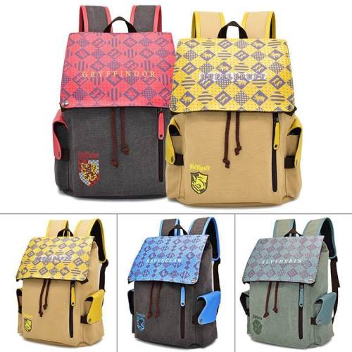 Harry Potter School Of Wizardry Cosplay Canvas Backpack Halloween Bag