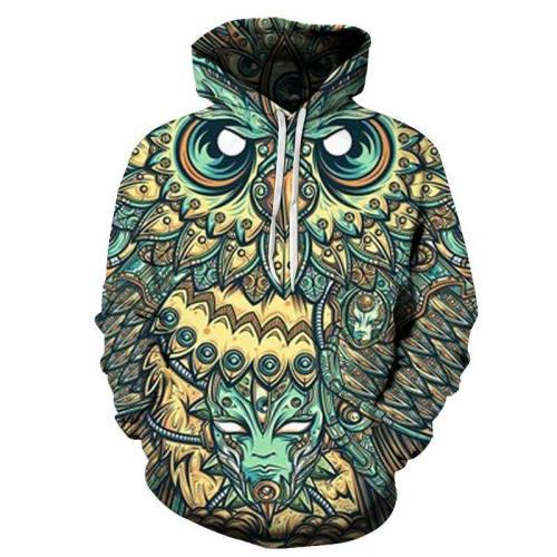 Owl God Of Dreams 3D Sweatshirt Hoodie Pullover