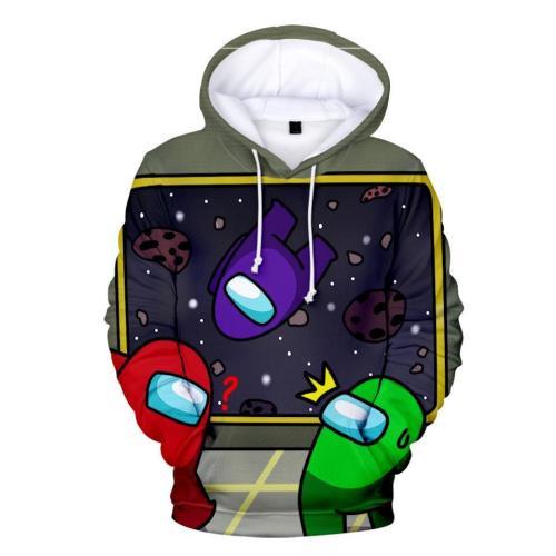 Kids Style-14 Impostor Crewmate Among Us Cartoon Game Unisex 3D Printed Hoodie Pullover Sweatshirt