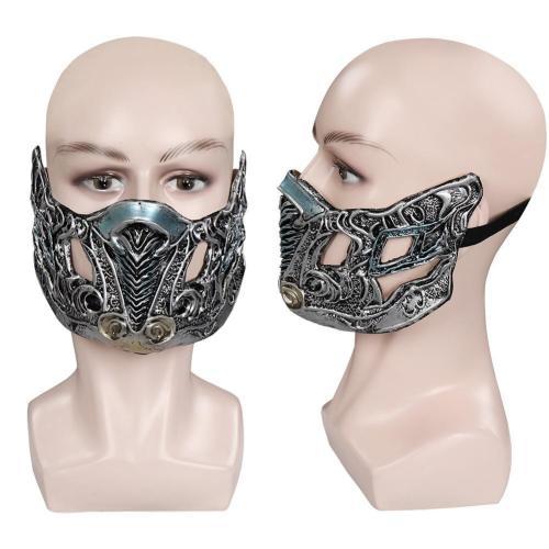 Mortal Kombat Sub-Zero Mask Masquerade Halloween Party Costume Props Cosplay Latex Masks Helmet