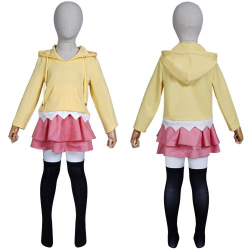 Kids Children Naruto Uzumaki Himawari Outfits Halloween Carnival Suit Cosplay Costume