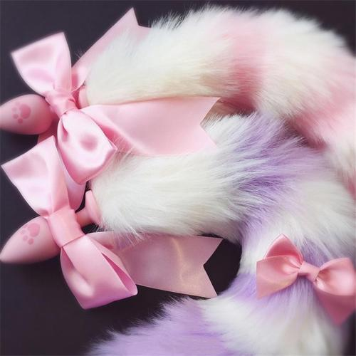Silky Ribbon Fox Tail Plugs