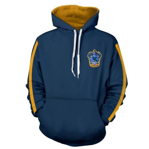 Blue Harry Potter Series Movie Unisex 3D Printed Hoodie Pullover Sweatshirt