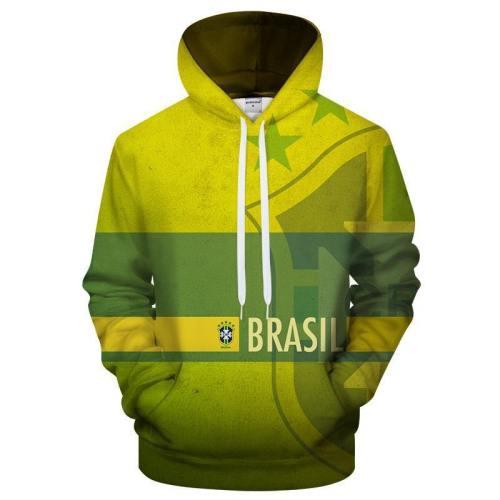 Brazil Logo 3D - Sweatshirt, Hoodie, Pullover