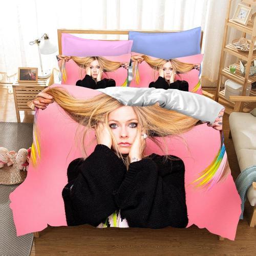 Avril Ramona Lavigne Cosplay Bedding Set Duvet Cover Pillowcases Halloween Home Decor