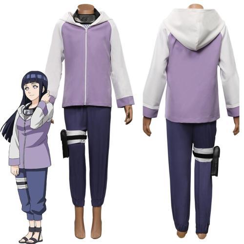 Anime Naruto-Hinata Hyuga Kids Children Outfits Halloween Carnival Costume Cosplay Costume