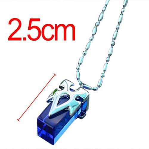 Sword Art Online Blue Metastasis Crystal Necklace