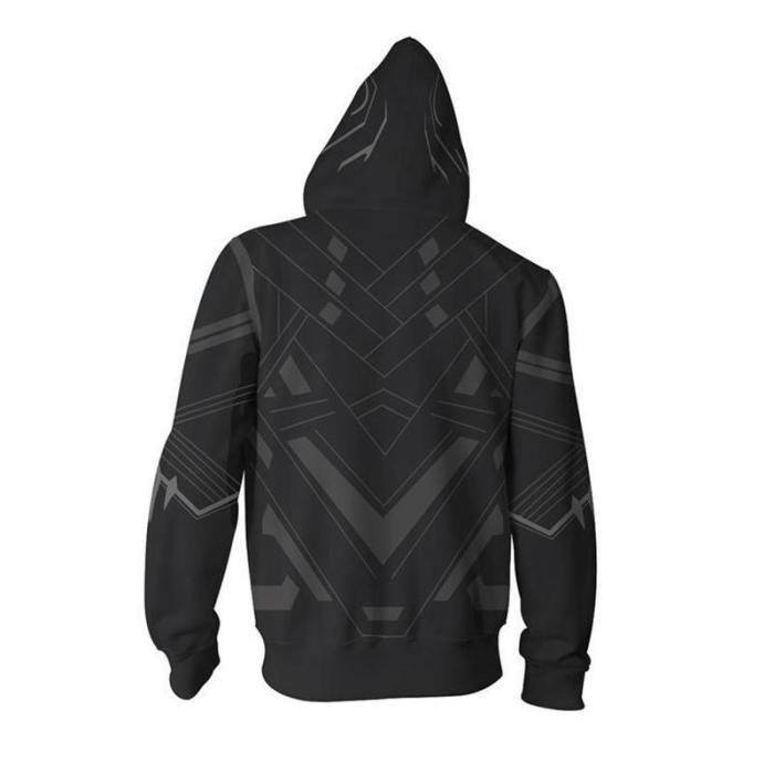 Avengers Movie T Challa Black Panther 3 Cosplay Unisex 3D Printed Hoodie Sweatshirt Jacket With Zipper