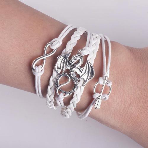 Dragon Mage Leather Bracelet