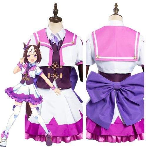 Pretty Derby Special Week School Uniform Dress Outfits Halloween Carnival Suit Cosplay Costume
